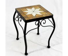 Flores taburete marrón mosaico 12015 macetas 28 cm taburete mesa auxiliar cuadrado