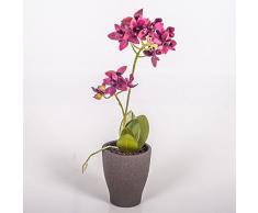 Pequeña orquídea phalaenopsis artificial EMILY en maceta, violeta, 35 cm - Flor decorativa / Planta sintética - artplants
