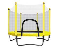 TrampolíN con Escudo De Seguridad - Cama EláStica para Interiores O Exteriores para NiñOs - Mini TrampolíN - Amarillo - LíMite MáXimo De 150 Kg