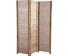Biombo de acacia de 3 paneles