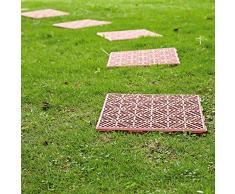 Parkland® - Baldosas de jardín o patio con rejilla, antideslizantes, para crear senderos sobre césped, cuadradas, de 30 cm