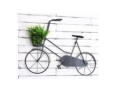WUFENG Montado en la pared - Bicicleta Creadores de flores Hierro Creativo Jardinería de estilo europeo Simples Estanterías de flores sala de estar interior balcón dormitorio Inicio Flower racks Estantería de la ensambladura