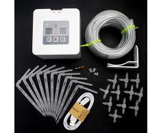 Coomir Bricolaje automático de riego por Goteo Kit USB Alimentado por batería Plantas de Interior Sistema de riego automático