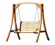 Diseño oscilación del jardín porche columpio hamaca modelo de alerce madera: 'Kuredo-OD'