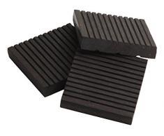 tdock WPC terraza baldosas, para suelo, 30 x 30 cm, 1. Elección, Gris claro