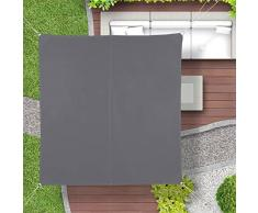 Relaxdays, Gris, Toldo Vela Cuadrado, Impermeable, Protección Rayos UV, con Cuerdas para tensar, 2 x 2 m