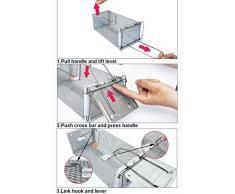 ThreeH Trampa de ratón Control de plagas de roedores vivos Dispositivo de captura de ratones MT02