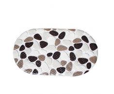 Gosear-Antideslizante Succión Alfombra de seguridad para Ducha Baño(Patrón de piedra del adoquín de PVC