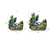 Hkw-shop Fuentes de Interior Hogar Creativo Montaña Agua Bonsai Humidificador Fuente de Agua de rocalla Artesanía Decoración de Bonsai Fuente Cascada de Agua Decorativa (Color : S)