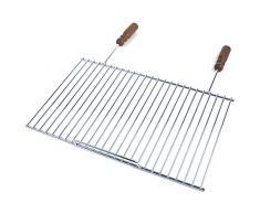ruecab 1105 rejilla de barbacoa Simple acero inoxidable mango madera plata 1,5 x 51 x 55 cm
