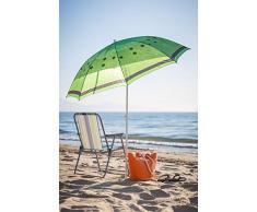 Sombrilla de Playa de Fruta de Acero Verde de 180 cm Garden - LOLAhome