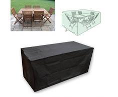 Vinteky® Impermeable Funda Resistente para Muebles de Jardín,Rectángulo(XL) Negro
