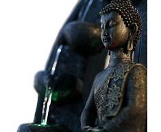 Fuente de agua interior Feng Shui Buda Harmonie 40 cm con led multicolor