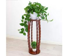 Soporte de pedestal para decoración de interiores, mesa de madera, mesa alta de pie, soporte de planta, pedestal, estantes de flores onduladas de jardinería, soporte de teléfono ( Tamaño : H60cm )