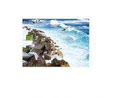Busirde Río Piedra Etiqueta de la Pared 3D del adoquín a Prueba de Agua de baño Cocina Suelo Decoración Tatuaje Etiquetas caseras del Papel Pintado 2# 50 * 70cm