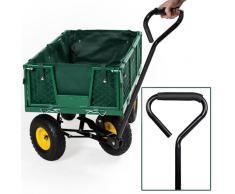TecTake Carro de transporte carretilla de mano de jardin construccion max. carga 350 kg
