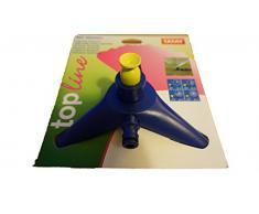 Tatay 0020201 Top Line - Aspersor sectorial con base para riego de jardín, ABS azul, superficie de riego 40m², 18 x 8,5 x 16,5