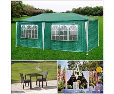 HG® Partyzelt verde Bierzelt Hochzeit Festzelt doble pared 3x6m Gartencamping Festival como un refugio y toldo Polietileno Impermeable Estable tienda fija de alta calidad