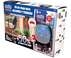 Aqua Control Riego por Goteo para Balcones-Programador C4099N + 12 Goteros Autocompensantes de 2 l/h + Microtubo de 4 mm, Kit C4061