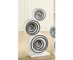 Decoración Escultura 'giro', 65 cm, blanco glaseado