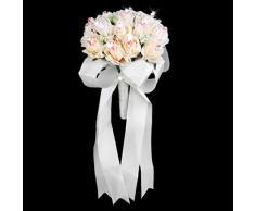 Ramo Rosa Flor Artificial Para La Boda Novia Dama Nupcial Muchachas