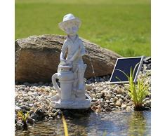 CLGarden NSP11 Fuente solar 'Bübchen' Energía solar del agua de la charca, Fuente de jardín, parte fuentes de agua para estanque o agua Platillos