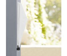 [casa.pro] Toldo lateral para balcón (blanco)(160 x 160 cm) plegable - pantalla protectora - protección contra viento privacidad
