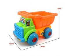 iHome&iLife Carro de vaciado del juguete 8 piezas de playa de arena Juguetes Set con palas, rastrillos, Cubo