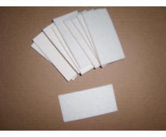 10 (50mm x 100 mm) BLANCO Antirasguños discos de fieltro Muebles planeadores en laminado, Azulejo o madera suelo