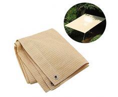 ZHANWEI Toldo, Parasol De Protección Solar Redes De Sombrilla De Aislamiento Térmico Red De Sombra Resistente A La Rotura para Exterior Canopy Garden Patio Pool (Color : Beige, Size : 4 x 4m)