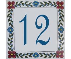 Cerámica Número Casa - Elija su número y el tamaño de su azulejo de la calle!