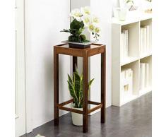 MultifuncióN Estante Almacenamiento Baldas Soporte for plantas, Columna de mesa de madera, diseño de mesa lateral, estante for flores, estante for exhibición, maceta, 66 cm, nombre del color: 80 cm