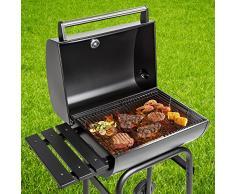 TecTake Barbacoa grill carbón vegetal parrilla fumador BBQ madera
