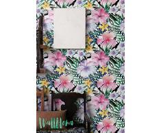 Peonía y Anemone Anemone - Papel pintado Flor extraíble papel adhesivo de pared, diseño de peonía, diseño de peonías y anémonas autoadhesivo papel pintado, 53 Cm wide by 121 Cm Tall