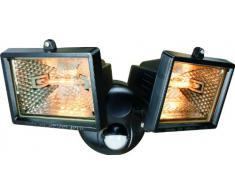 Smartwares 10.031.59 Doble foco halógeno con sensor exterior 2x120W incluido 2250ml negro ES120/2W