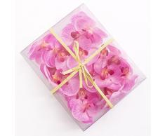 artplants.de Mini Flores de orquídea phalaenopsis, Rosa, 18 Unidades en la Caja - Flores Artificiales - Flores Decorativas