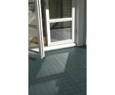 qtile® Plástico azulejos – Universal suelo de polipropileno (PP) • 1 m² (11 baldosas pckg.) • para terraza, balcón, Pool, Jardín, Hobby años, waschraum etc., Verde