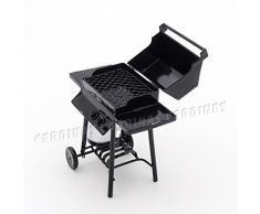 Odoria 1/12 Miniatura Parrilla de Barbacoa con Tanque de Gas Cocina Accesorio para Casa de Muñecas