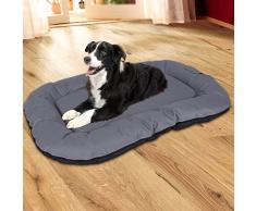 Songmics Cómodo Casa para mascotas, Cama para perros Perrera Gris 100 x 70 x 15 cm PGW70G
