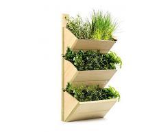 Estantería Estante De Madera Maceta Macetero - Invernadero para Colgar en la pared - de alta calidad y hierbas rack para el cultivo de o de exhibir Plantas en su cocina o en cualquier lugar de su casa - Idea de regalo