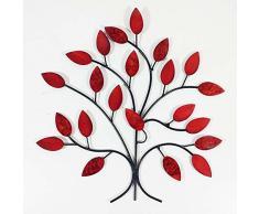 Pared de metal conmporáneo escultura decoración de ar - Fuego Rama de un árbol de Verano