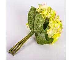 Decorativo ramo KLARA de hortensias, amarillo-verde, 30 cm, Ø 18 cm - Flor sintética / Planta artificial - artplants