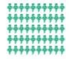 50x Mini Sistema de Riego Boquilla Por Aspersión 180 Grados para Jardín