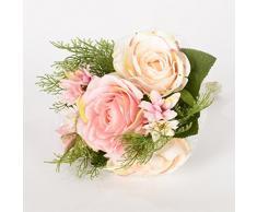 7 Ast por la flor artificial del ramo de Rose Novia que sostiene una flor para la decoración de la boda, rosa