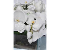 Elegante blanco Artificial orquídea, Magnolia y rosa de arreglo Floral