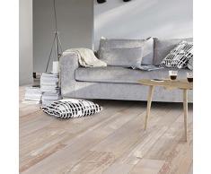 livingfloor® PVC suelo de Shabby Vintage imitación de madera de madera DM natural 2 m ancho, longitud variable Metro