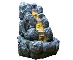 Fuente de agua interior Feng Shui Rock 34 cm con led amarillo