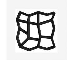 YST DIY Molde de hormigón para encofrado, molde de plástico para hormigón, piedra natural, tiritas de piedra natural, plantilla de adoquines, placas de pisada y jardín terraza césped
