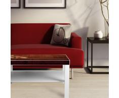 Gran blanco de mesa de café con compartimento para periódicos de almacenamiento y de diseño de: de caza de perro en sofá