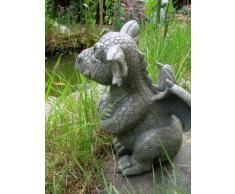 MC - Figura decorativa para jardín, diseño de dragón escéptico